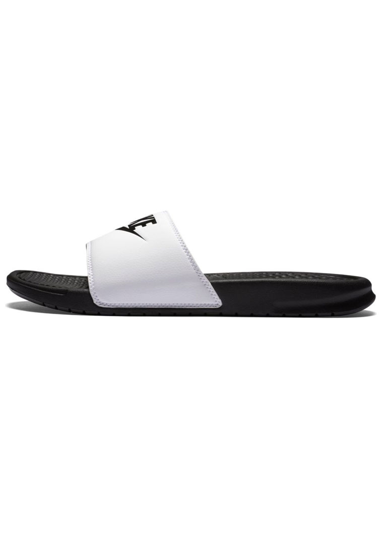 "Nike Badesandalen Benassi ""Just Do It"" weiß/schwarz"
