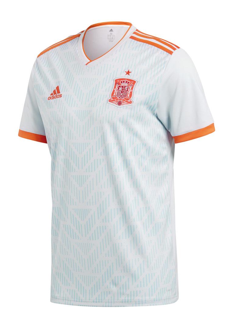 adidas Spanien Herren Auswärts Trikot 201819 hellgraurot