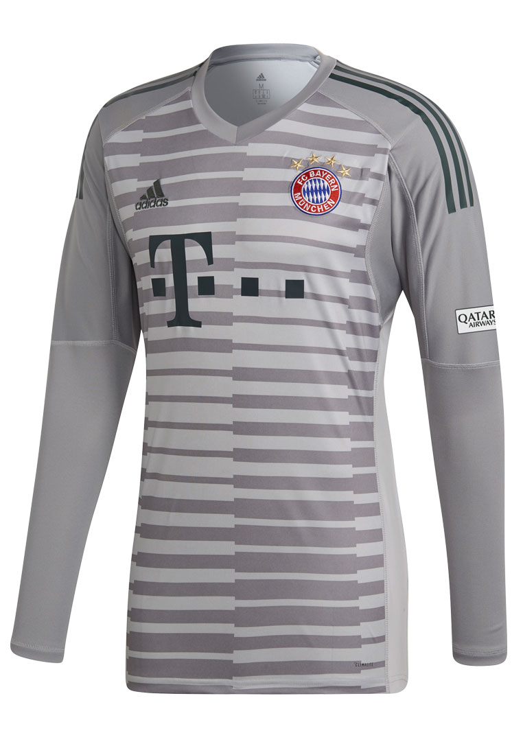 adidas FC Bayern München Herren Torwart Trikot 2018/19 grau/dunkelgrün