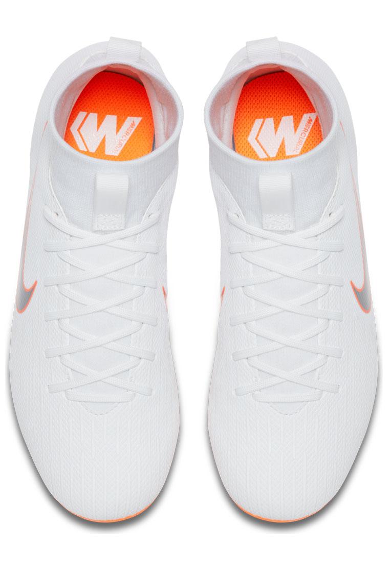 Nike Kinder Fußballschuh Mercurial Superfly VI JR Academy GS FG/MG weiß/orange fluo