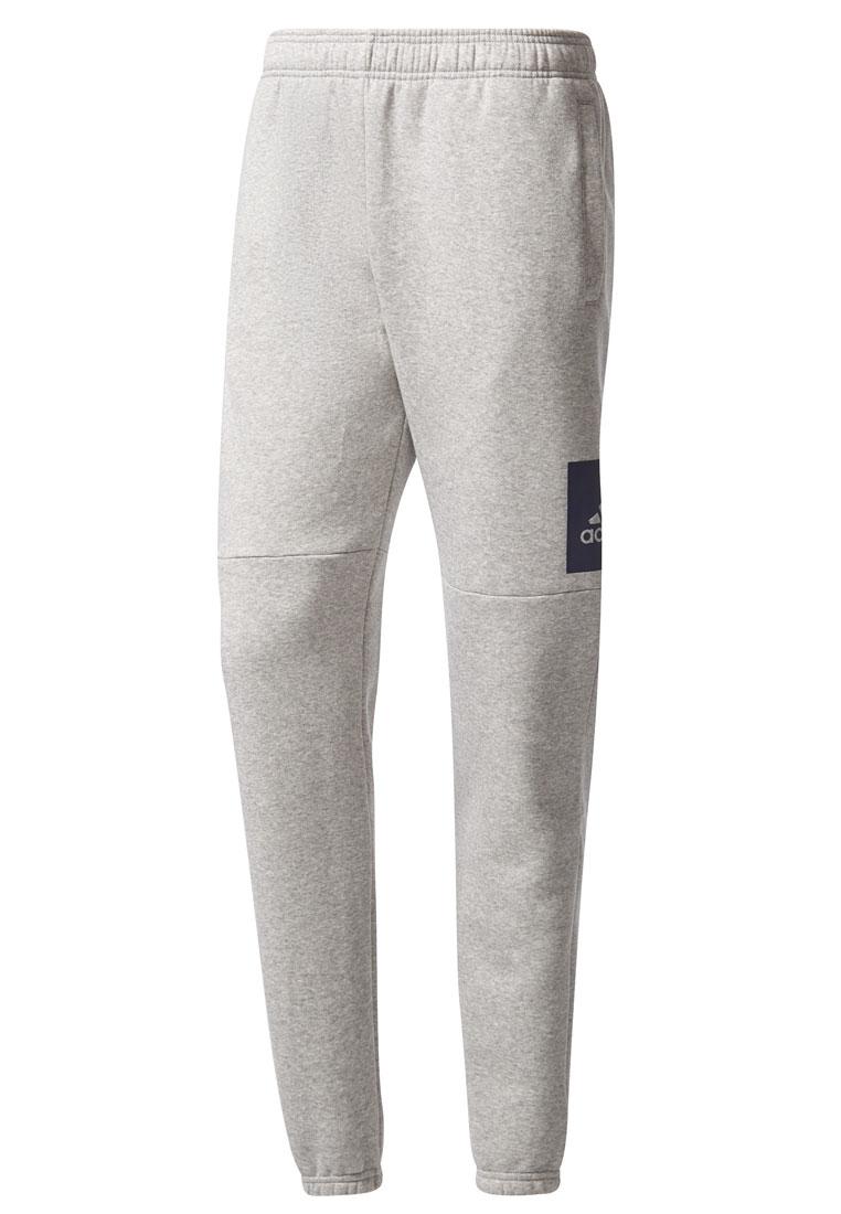 adidas Trainingshose Essentials Box Logo Tapered Pant Fleece grau/schwarz