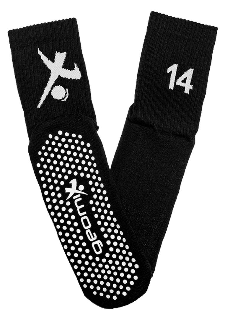 geomix Anti-Rutsch Trainingssocken Nummer 14 schwarz/weiß