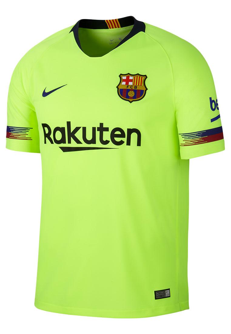 Nike FC Barcelona Herren Auswärts Trikot 2018/19 gelb fluo/dunkelblau
