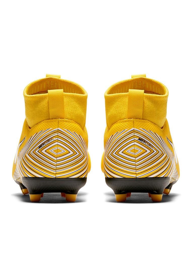 Nike Kinder Fußballschuh Mercurial Superfly VI JR Academy Neymar Jr. FG/MG gelb/schwarz