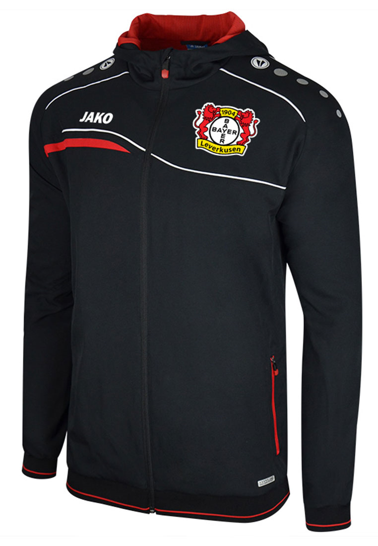 Jako Bayer 04 Leverkusen Einlaufjacke schwarz/rot