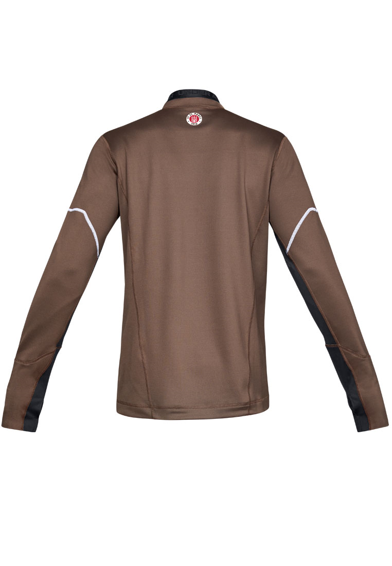 Under Armour FC St. Pauli Trainingsoberteil 1/4 Zip braun/weiß