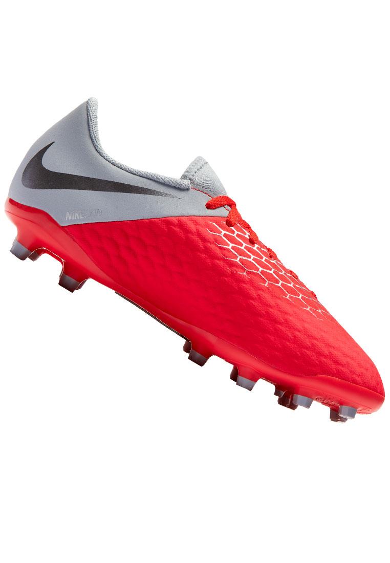 Nike Kinder Fußballschuh Hypervenom Phantom III JR Academy FG rot/grau