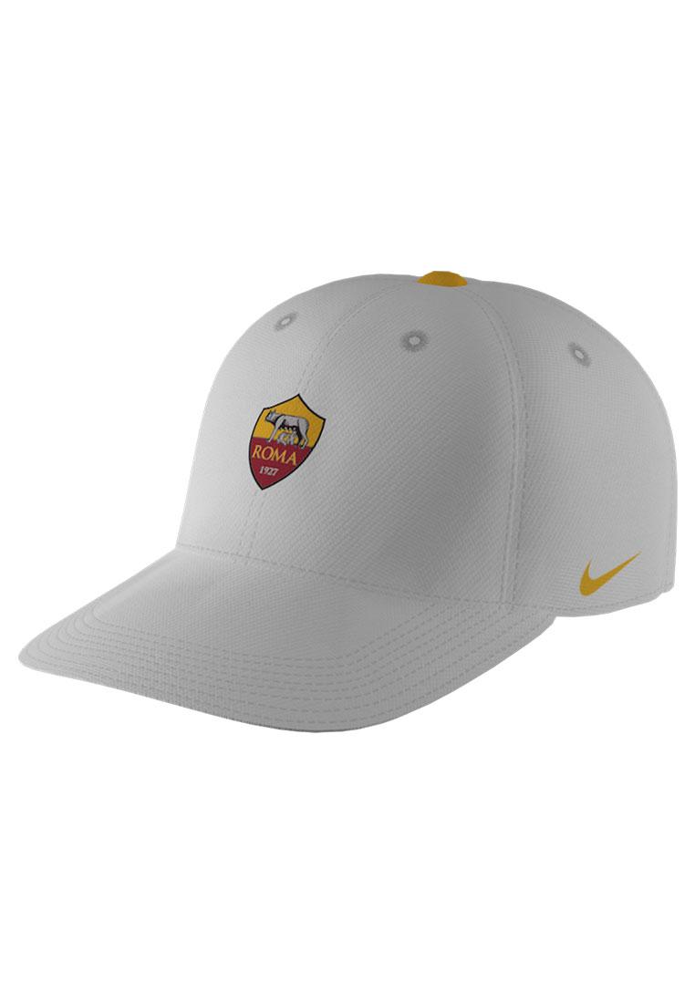 Nike AS Roma Kinder Kappe Heritage 86 Cap weiß/gelb