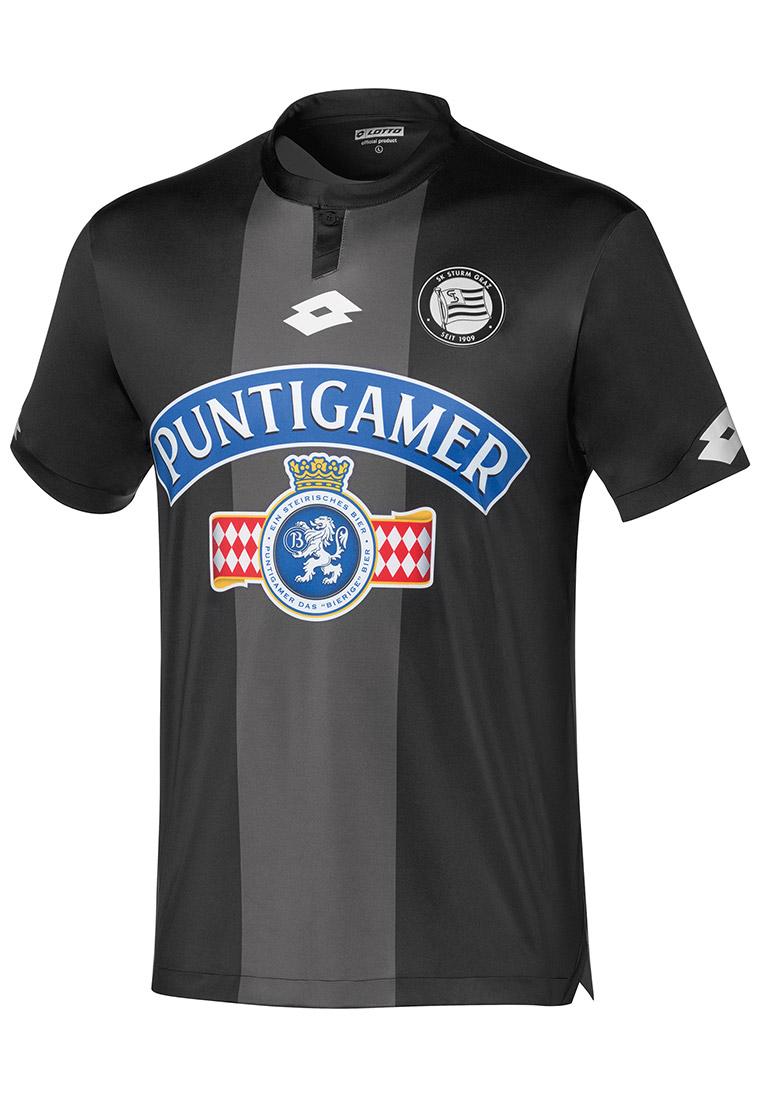 Lotto SK Sturm Graz Herren Heim Trikot 2018/19 schwarz/weiß