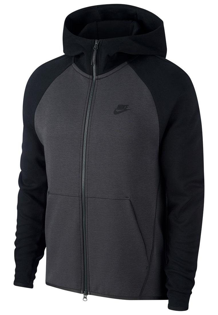 Nike Kapuzenjacke Tech Fleece Hoody dunkelblauweiß