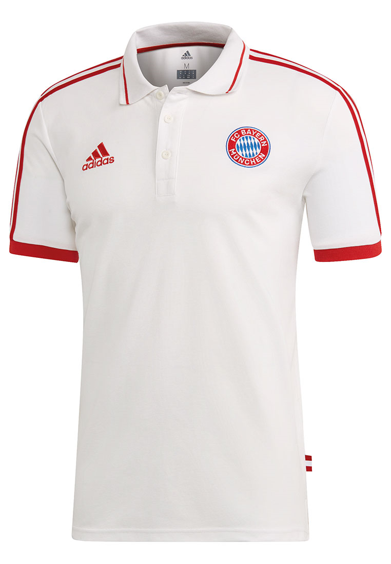 Adidas FC Bayern München polo t-shirt Top wit/rood