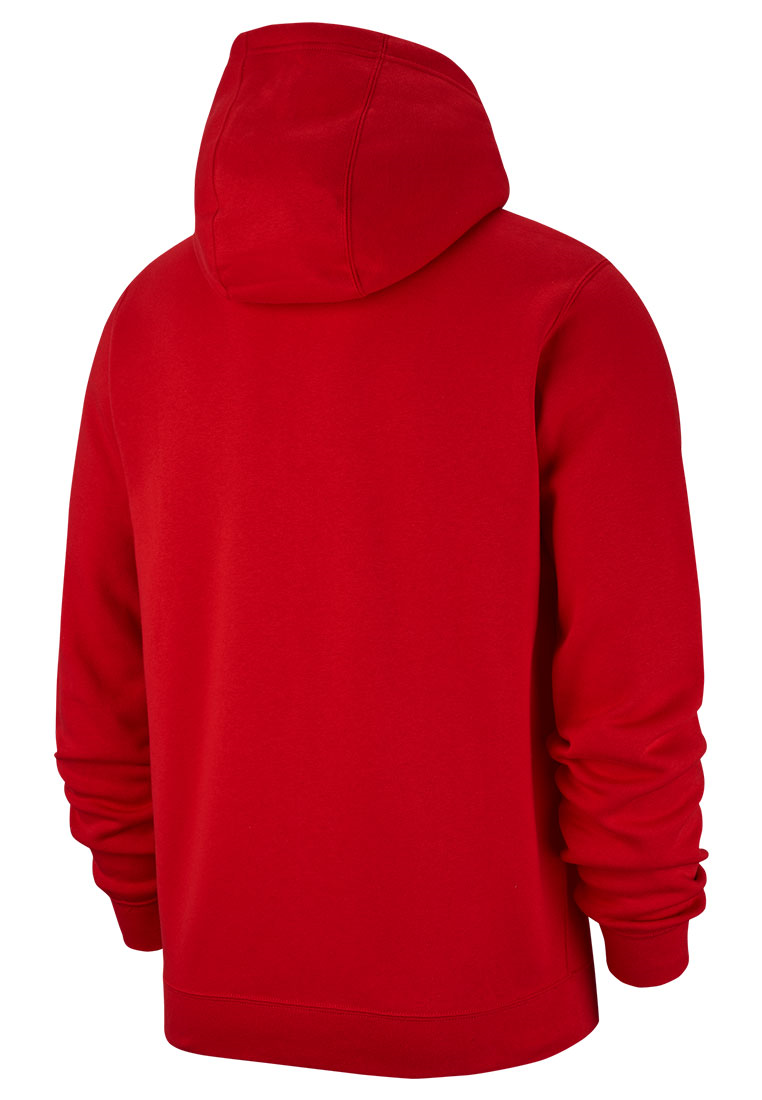 Nike Kapuzenjacke Team Club 19 Fleece Hoody rot/weiß