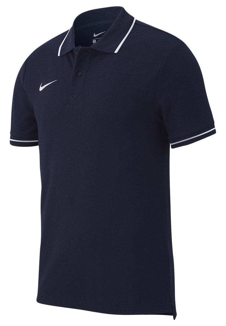Nike Poloshirt Team Club 19 SS dunkelblau/weiß