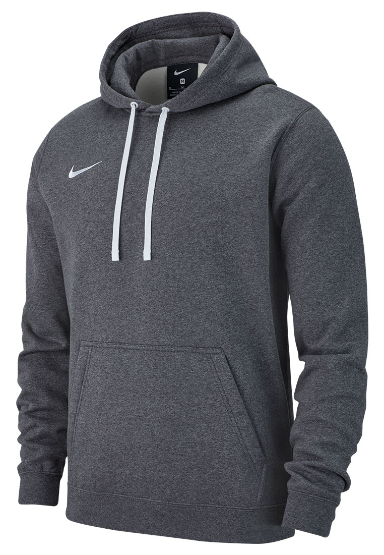 Nike Kapuzenpullover Team Club 19 Fleece Hoody grau/weiß