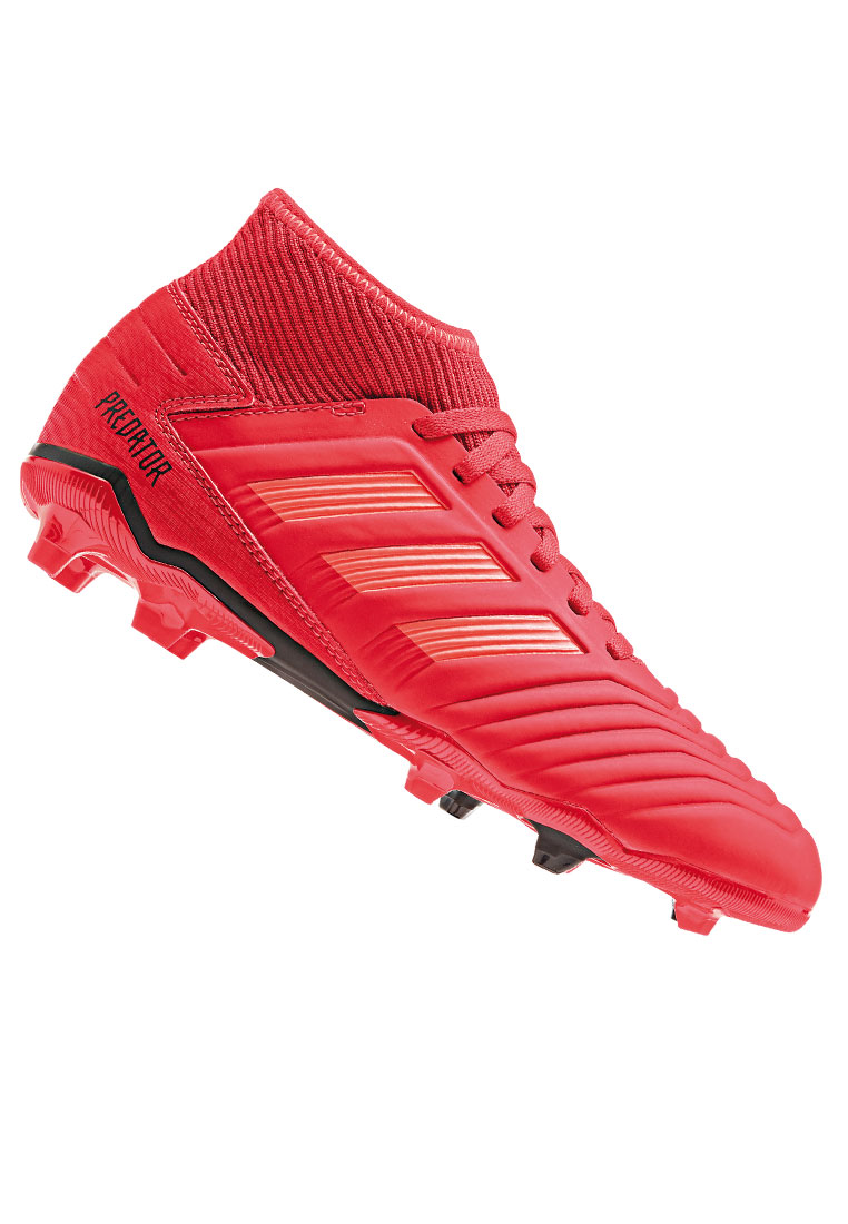 adidas Kinder Fußballschuh Predator 19.3 FG J rot/schwarz