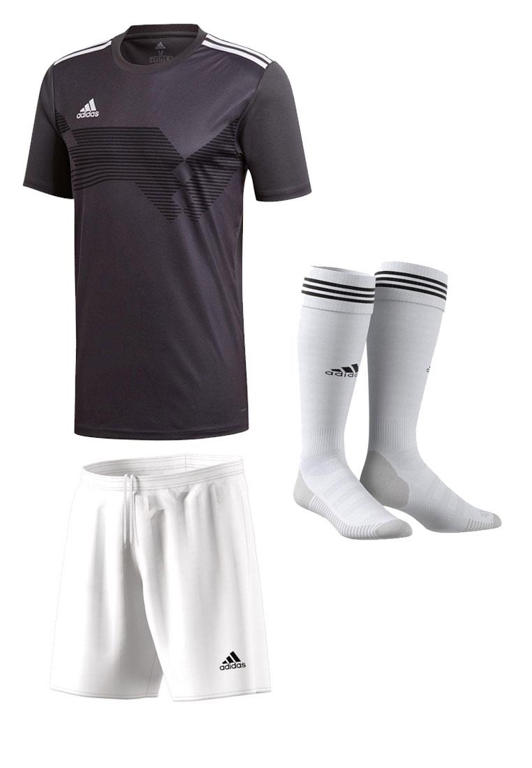adidas Dressenset Campeon 19 anthrazit/weiß