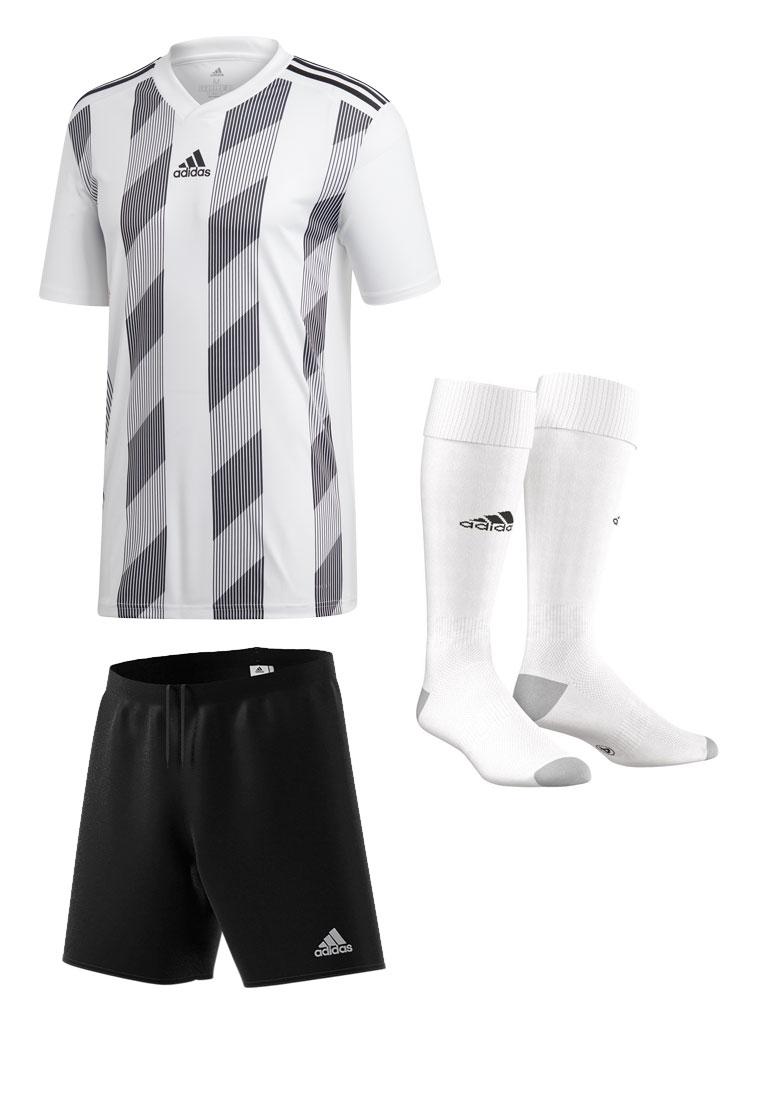 adidas Dressenset Striped 19 weiß/schwarz