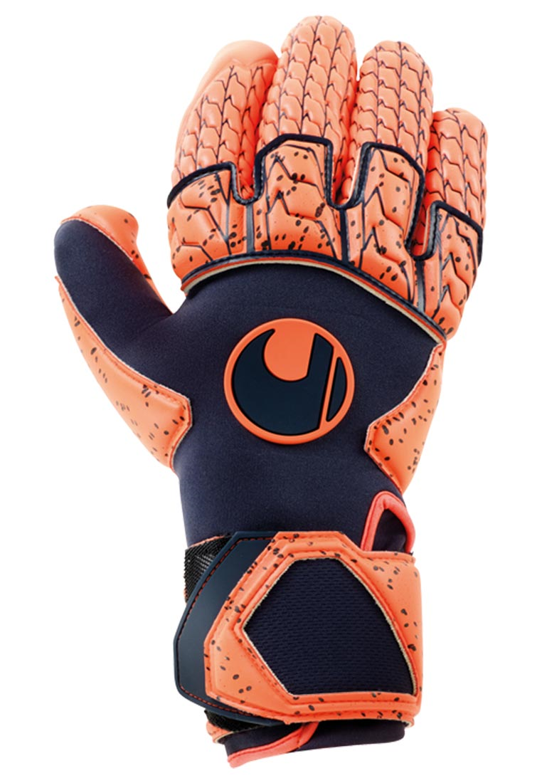 Uhlsport Torwarthandschuhe Next Level Supergrip Reflex dunkelblau/rot fluo