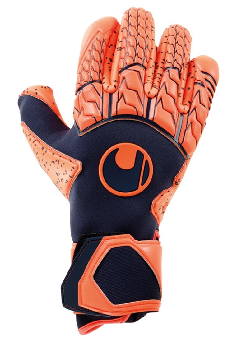 Uhlsport Torwarthandschuhe Next Level Supergrip Finger Surround dunkelblau/rot fluo