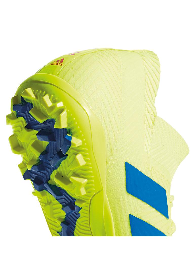 adidas Fußballschuh Nemeziz 18.3 TF Kunstrasen gelb fluo/blau
