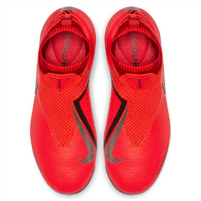 Nike Kinder Fußballschuh Phantom Vision JR Elite DynamicFit FG/MG rot/silber