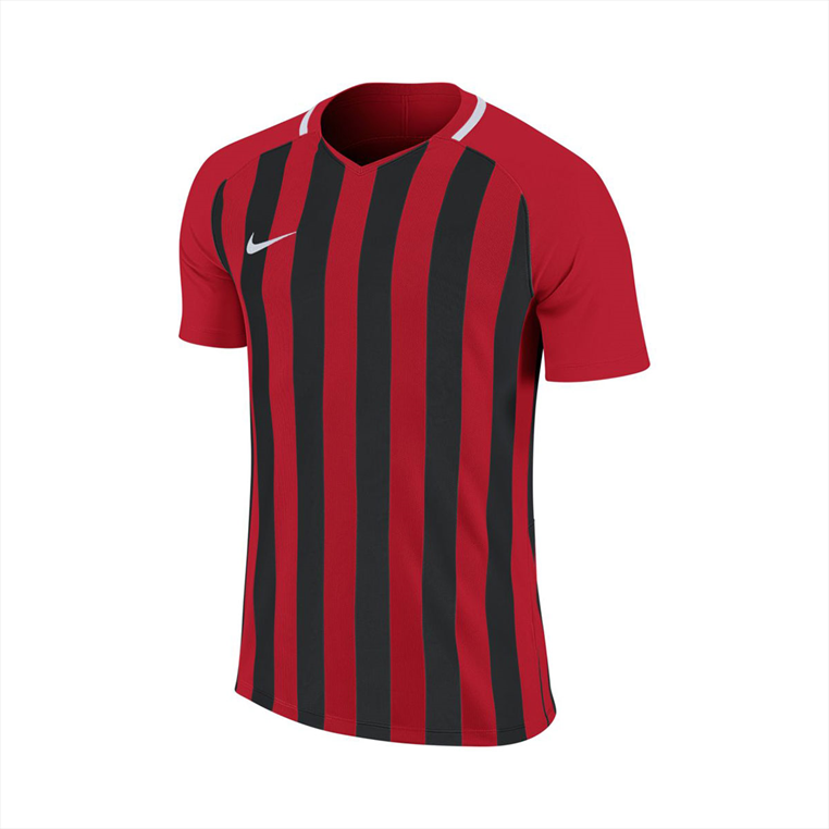 Nike Kinder Trikot Striped Division III SS Jersey rot/schwarz