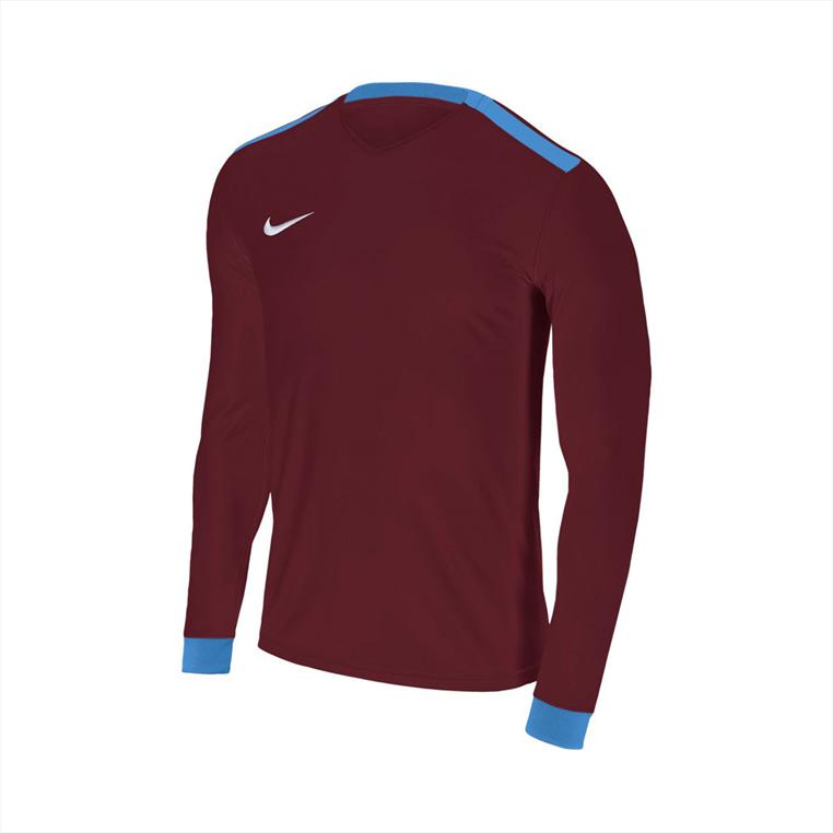 Nike Kinder Langarm Trikot Park Derby II LS Jersey dunkelrot/blau