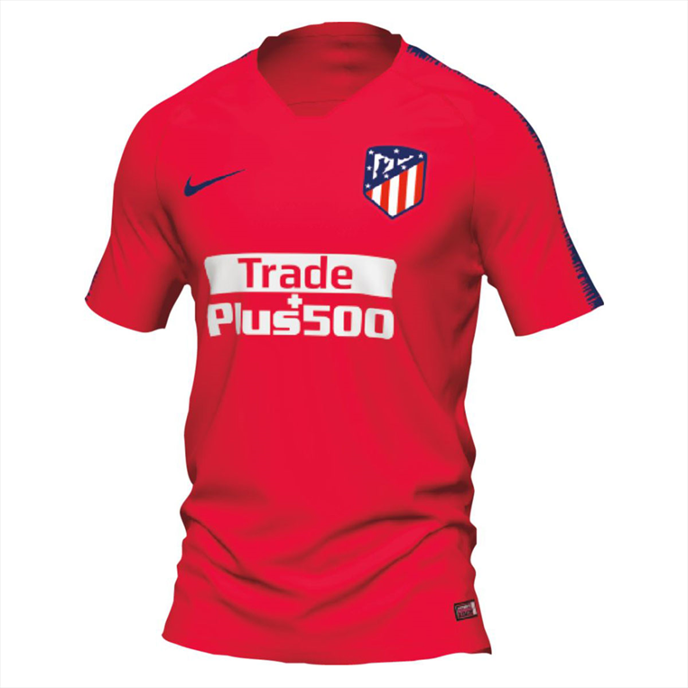 Nike Atlético Madrid Trainingsshirt Breathe Squad Top rot/blau