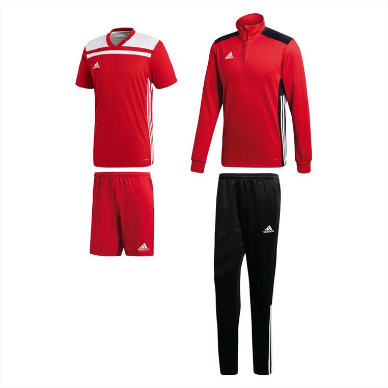adidas Trainingsset Regista 18 4-teilig rot/schwarz