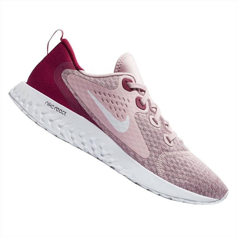 Nike Damen Laufschuh Rebel Legend React altrosa/dunkelrot