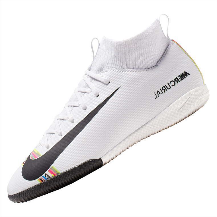 Nike Kinder Hallenschuh Mercurial Superfly VI JR Academy GS CR7 IC weiß/schwarz