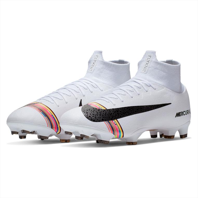 Nike voetbalschoenen Mercurial Superfly VI Pro CR7 FG wit/zwart