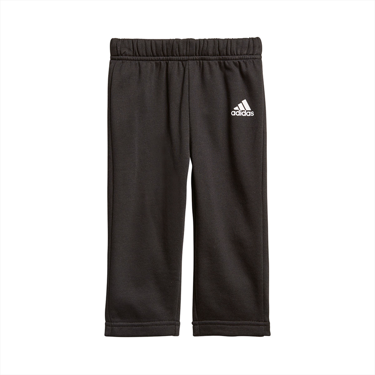 adidas Kinder Trainingsanzug 3S Full Zip Hooded Jogger grau/schwarz