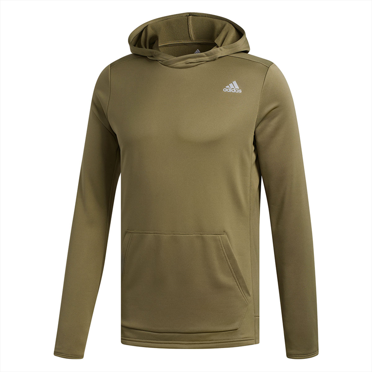 "adidas Langarm Kapuzenlaufshirt ""Own the Run"" Hoody dunkelolivegrün/silber"
