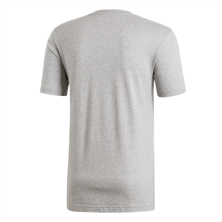 adidas Shirt C Linear Brush Tee grau/weiß