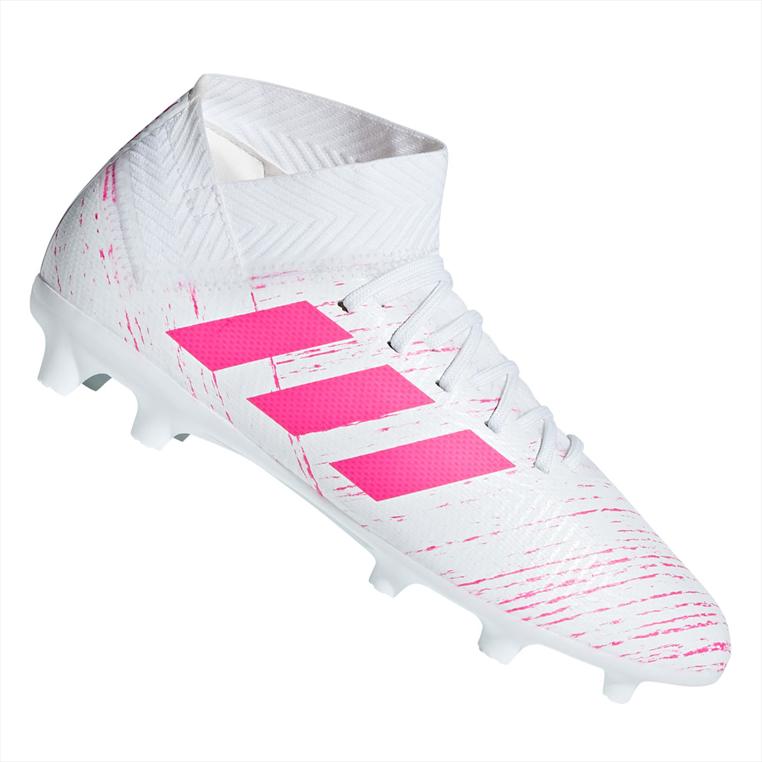 adidas Kinder Fußballschuh Nemeziz 18.3 FG J weiß/pink