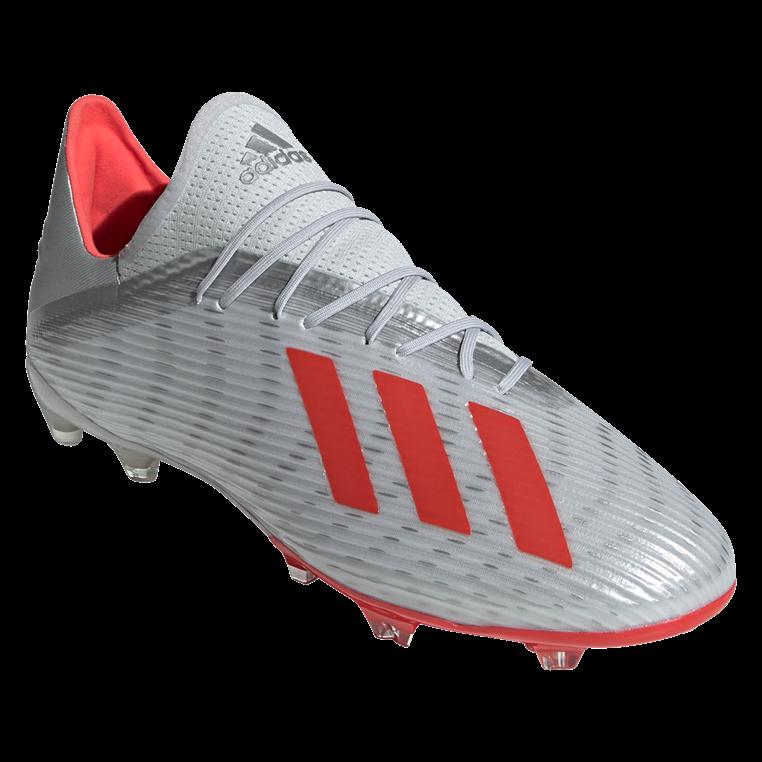 adidas Fußballschuh X 19.2 FG silber/rot