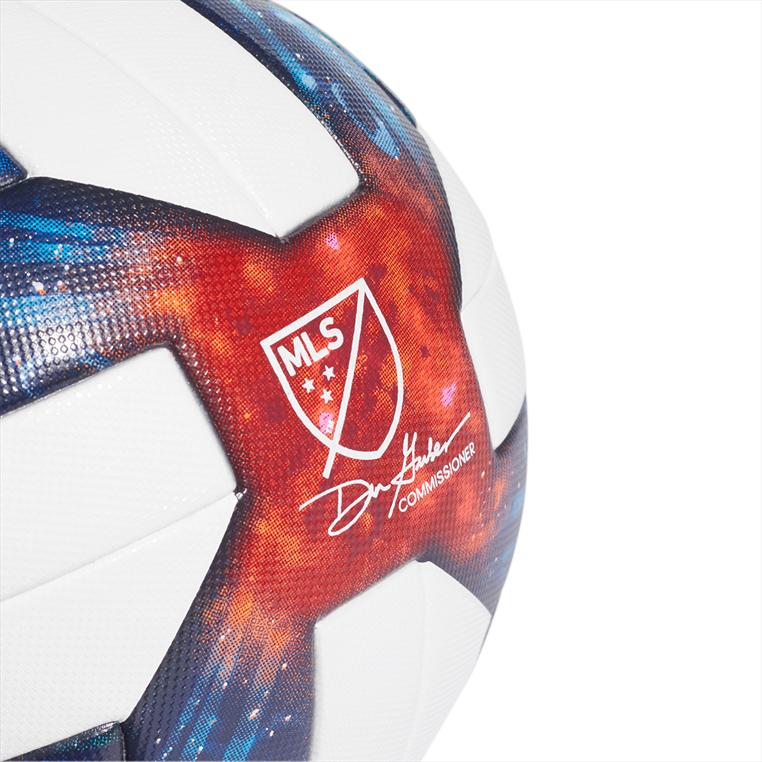 adidas Fußball MLS Soccer League OMB Größe 5 weiß/blau