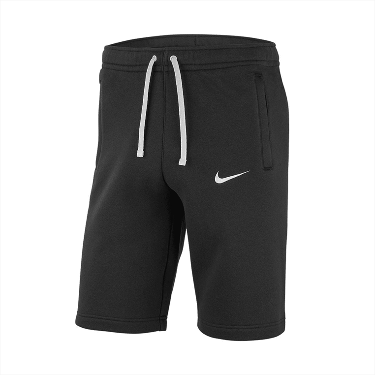 Nike Short Fleece Team Club 19 Crew schwarz/weiß