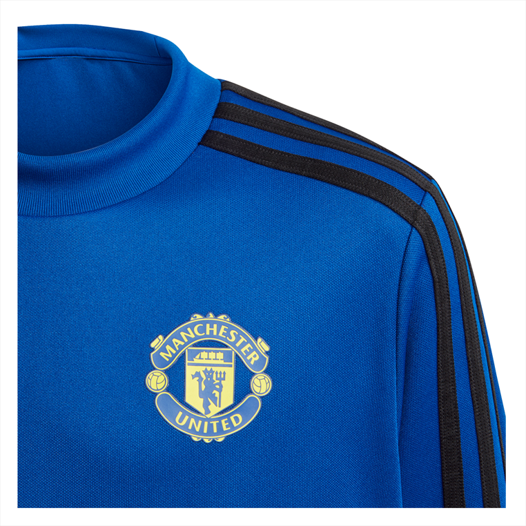 adidas Manchester United Kinder Trainingsoberteil Top blau/schwarz