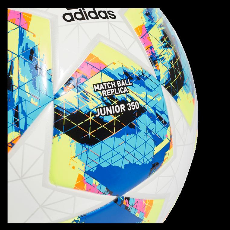 adidas Fußball Champions League Finale 2019 Top Training Junior 350G Größe 5 weiß/cyan