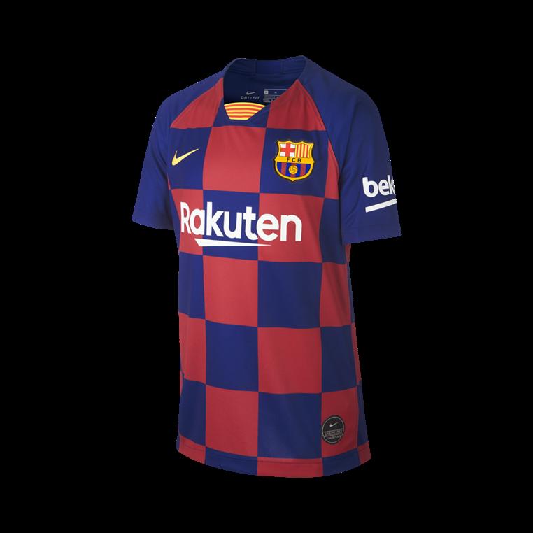 Nike FC Barcelona Kinder Heim Trikot 2019/20 blau/rot
