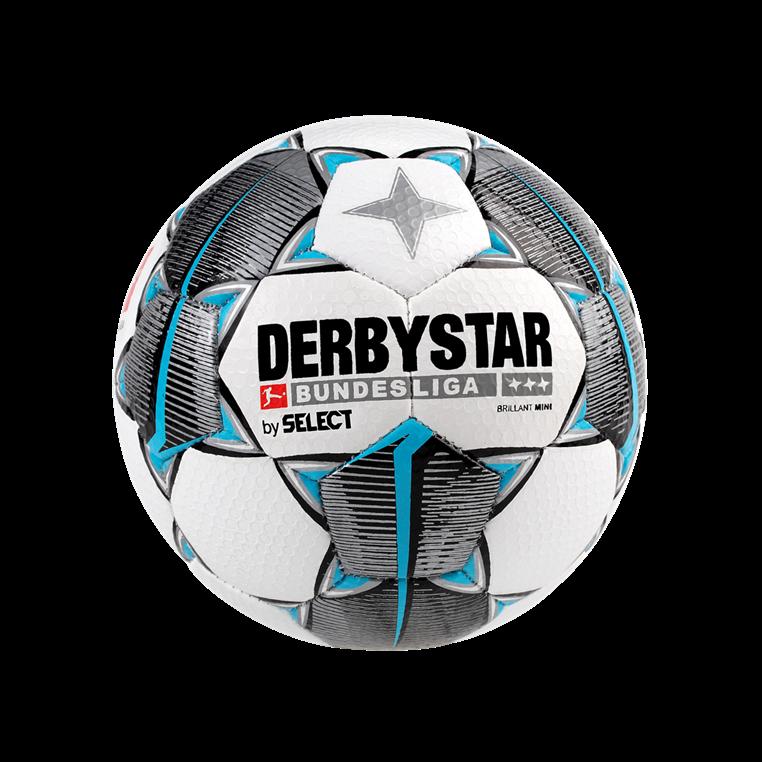 Derbystar Fußball Bundesliga Brillant Minifußball weiß/hellblau