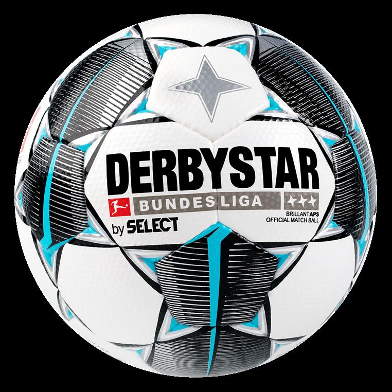 Derbystar Fußball Bundesliga Brillant APS Größe 5 weiß/hellblau