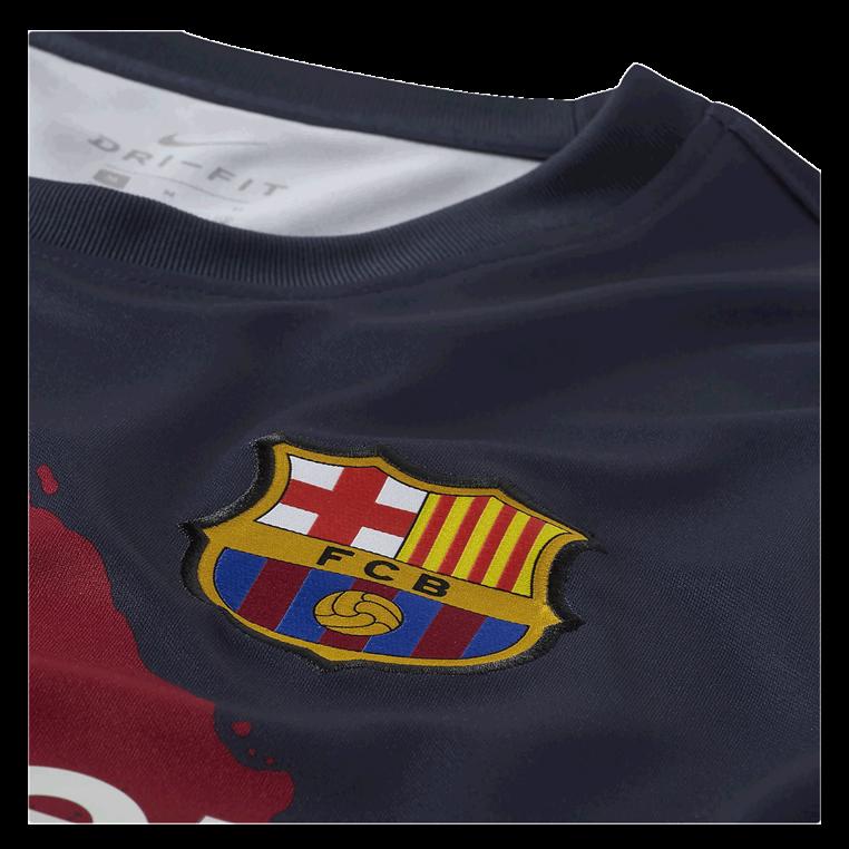 Nike FC Barcelona Aufwärmtrikot Pre Match dunkelblau/gelb