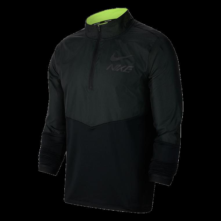 Nike Laufoberteil Element Hybrid Top HZ GX schwarz/gelb fluo