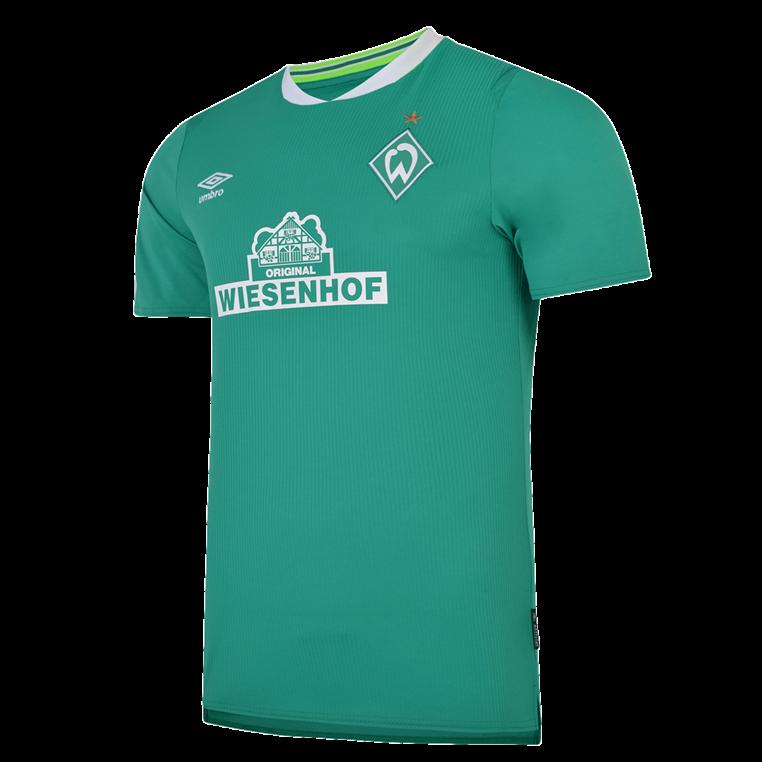 Umbro SV Werder Bremen Herren Heim Trikot 2019/20 grün/weiß