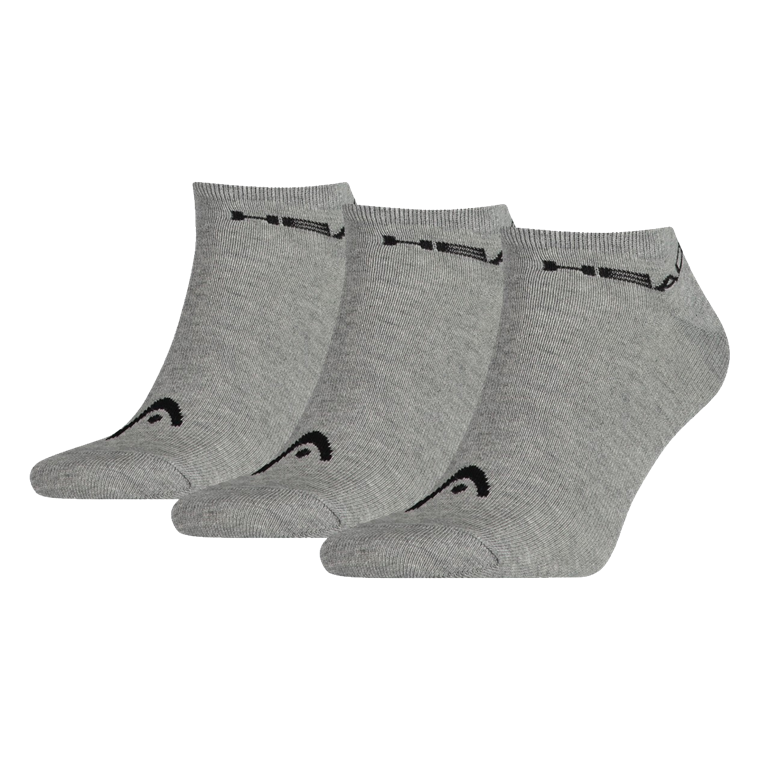 Head Socken Sneaker 3er Pack grau