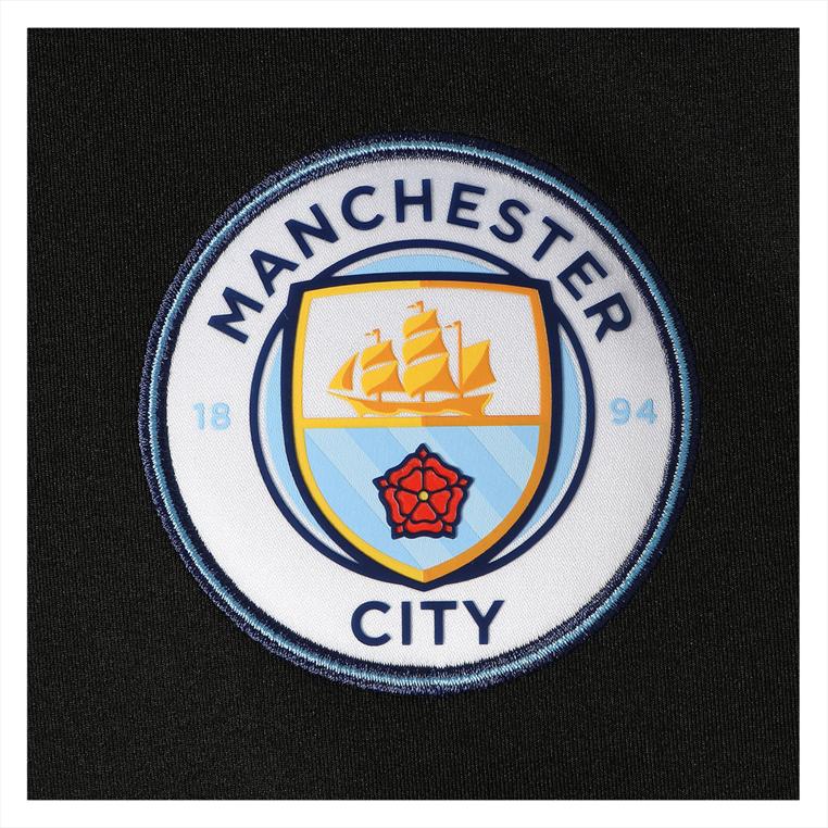Puma Manchester City 1/4 Trainings Top schwarz/hellblau
