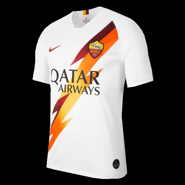 save off 63e2d e662c Nike AS Roma Herren Auswärts Trikot 2019/20 weiß/rot